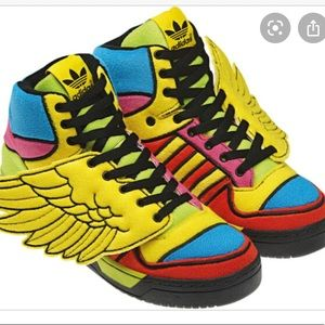 Jeremy Scott Adidas chenille neon color wings -10